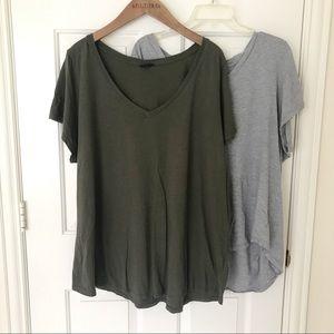 Torrid vneck grey green shirt bundle lot size 4